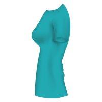 t-shirt_femme_turquoise_cote